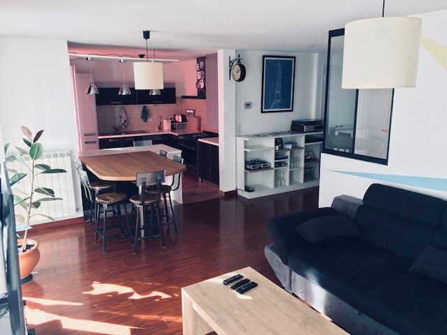 Appartement 80 m² proche centre