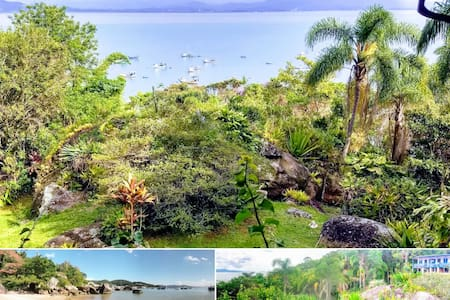Vista incrível, praia quase exclusiva, verde+wifi