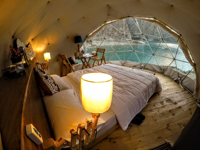 Igloos by Sweettooth at Attabad Lake Hunza