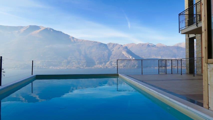 appartamento con1 camera vista lago
