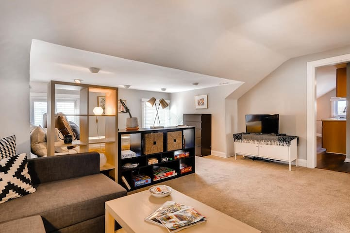 LARGE studio in historic, central Cap Hill