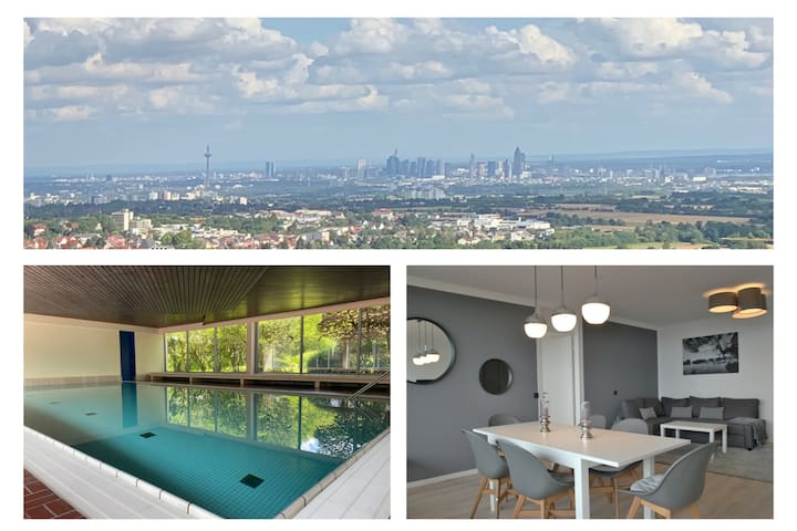 Skyline Appartement mit Pool 2-6 Gäste mit Netflix