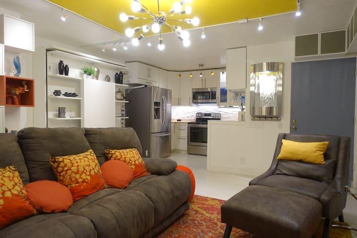 Freshly renovated luxury 2B2B ground floor condo