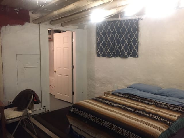 Basement bedroom in West Philly house