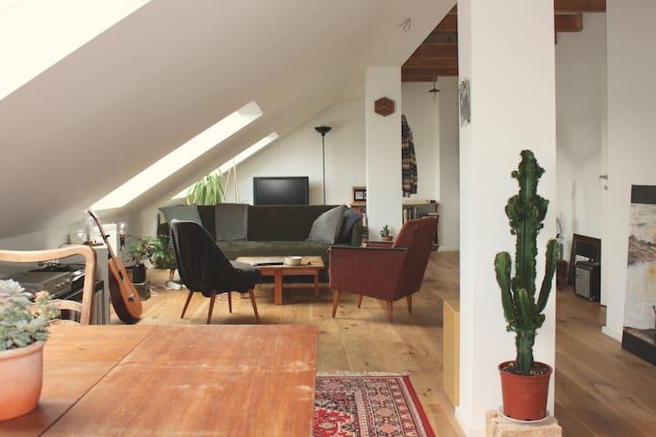 Helles DG Lofft über den Dächern Leipzigs