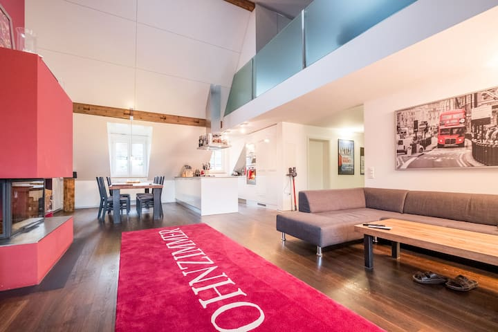 Charming Rooftop Loft. Close to the Towncenter.