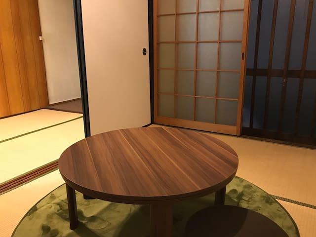 岡山駅-徒歩6分!商店街すぐ。無料ポケットWiFi。歴史ある木造日本家屋。
