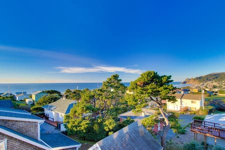 Great Road's End ocean views, a brand new private hot tub, and more!