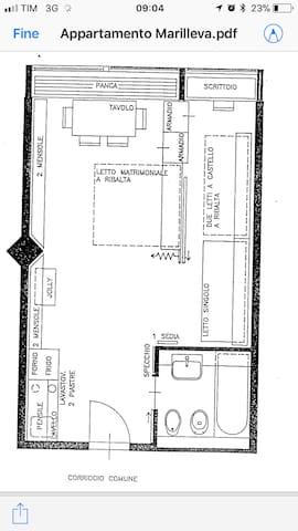 马里尔伊瓦1400 (Marilleva 1400)的民宿