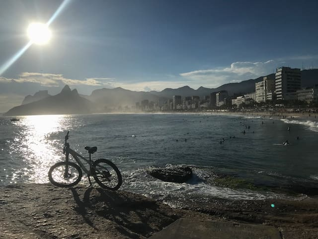 Arpoador, Copacabana and Ipanema beaches 2 mins...