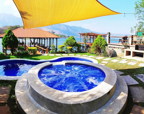 Coatepeque lake Island house