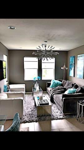 Modern ZGallerie bedroom suite with new mattress