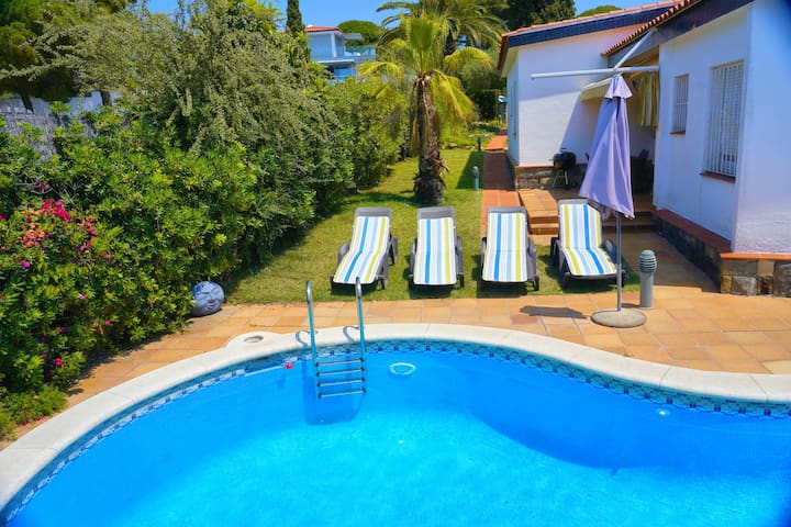 Mediterranean waterfront Villa with private beach