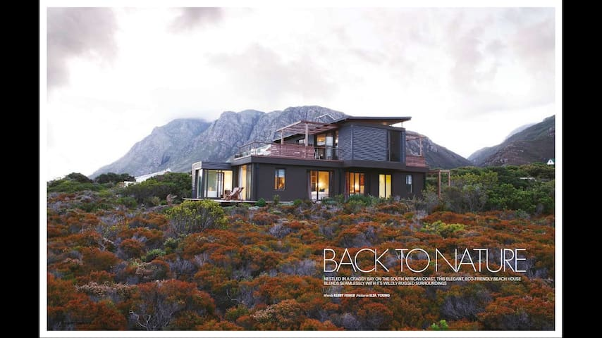 FYNBOS GLASSHOUSE | unique modern peaceful coastal