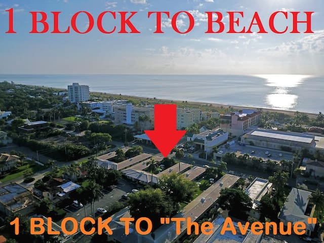 Renovated & Cute- 1 Block to Beach/Dining/Shopping