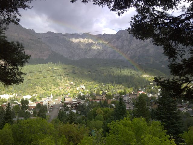 Best View with Downtown Ouray & Amphitheater View
