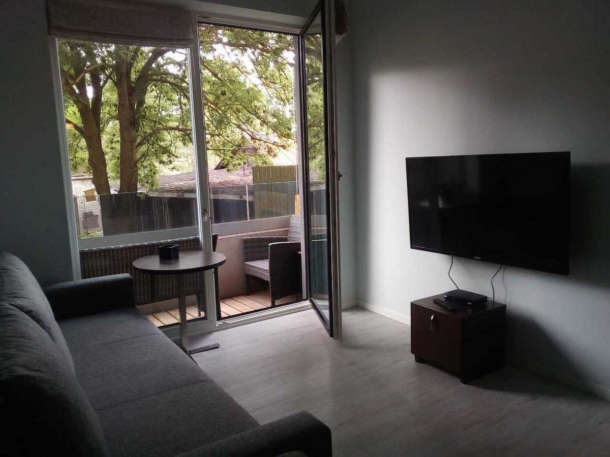 Central 41 m2 Balcony Garden view keyless 5 Guests
