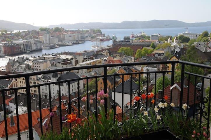 Room with view over Bergen harbour