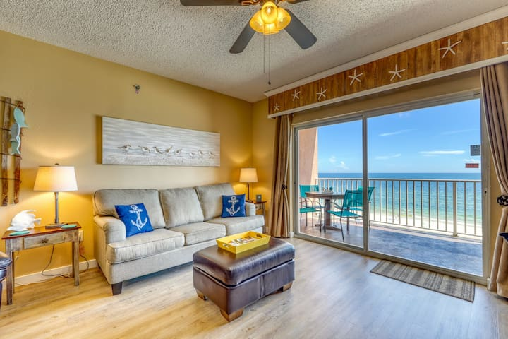 Waterfront getaway w/ gorgeous beach views & an outdoor pool!