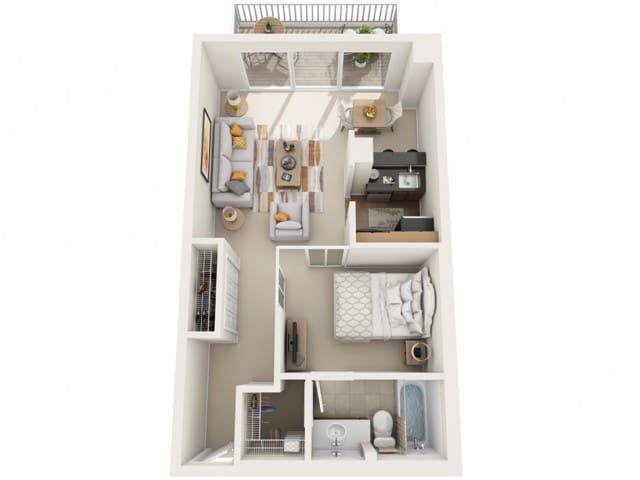 Apartment for short term visitorson travel