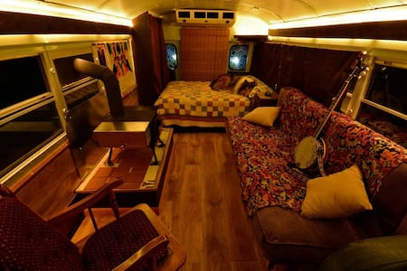 Cozy School Bus Conversion