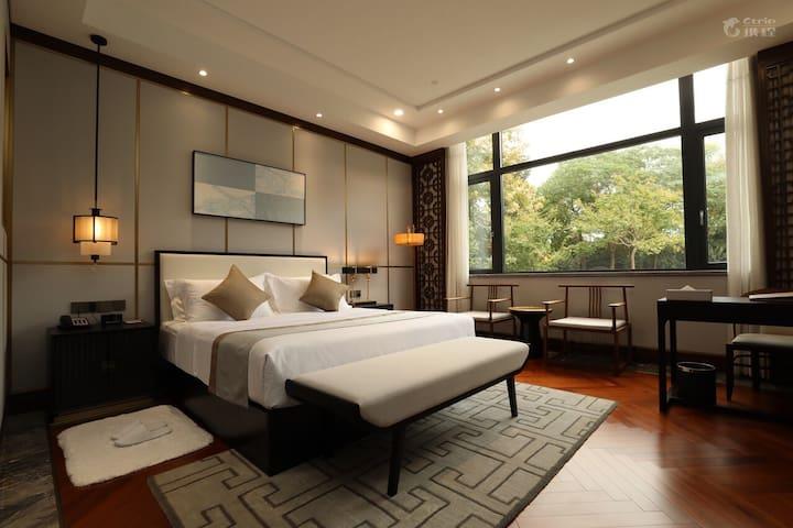 杭州西溪湿地集萃别院花园景观舒适大床房