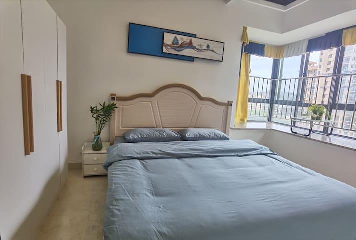 琼海万泉河景区北欧风格两居室(可做饭)