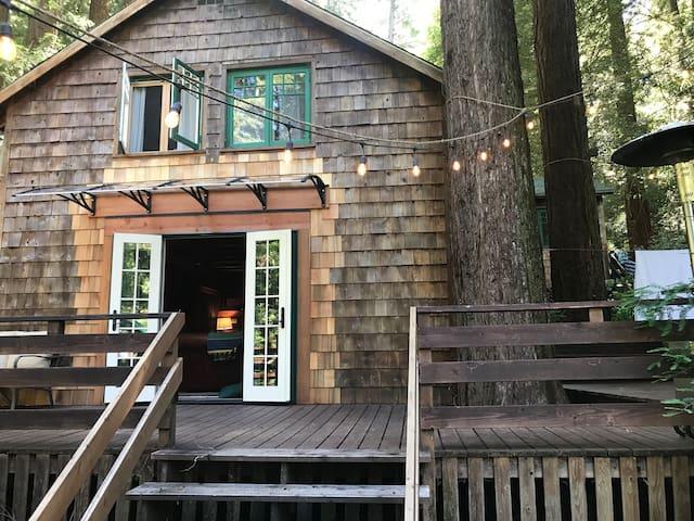 Clear Creek Cabin in the Santa Cruz Redwoods