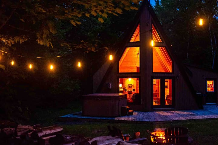 Cozy Wentworth A Frame Cabin w Hot Tub & Fireplace