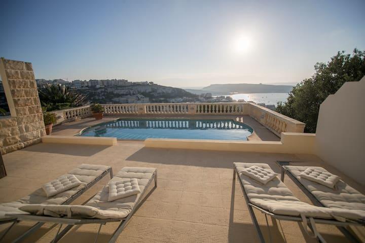Mellieha. Beautiful villa with fabulous sea views