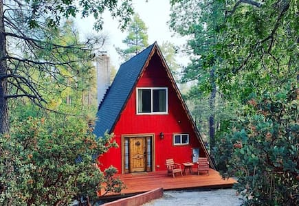 Dreamy A-Frame Cabin in the Woods