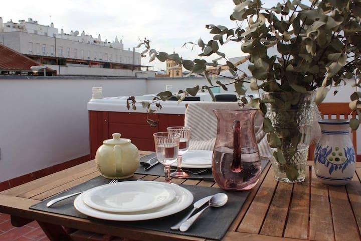 Disfruta del Sol en Sevilla, Jacuzzi en terraza