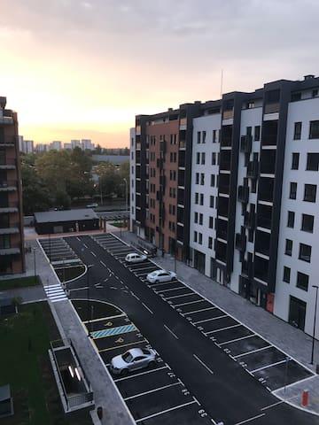 "Belgrade studio in luxury apartment block""A block"""