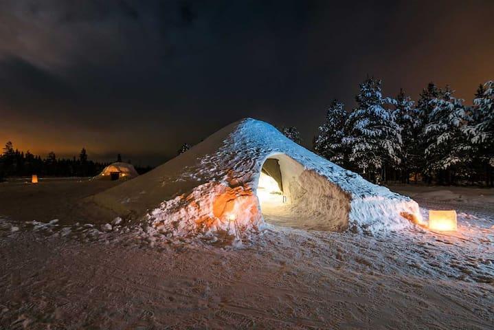 Snow igloo