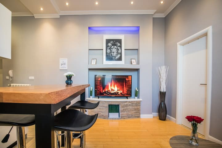 STYLISH & NEW APARTMENT IN CENTER-GARAGE NEARBY