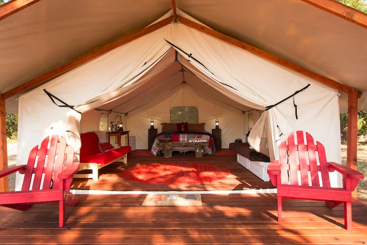 Glamping tent, Self Ck in~Prof. Sanitized~Private