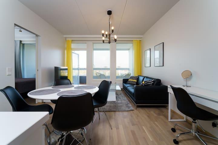 Luxury 1br penthouse w/ sauna in the heart of Oulu
