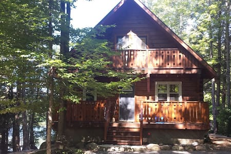 4 Season Lakefront Log Cabin Cottage Retreat