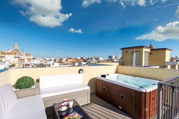 Estrella. Rooftop terrace & private jacuzzi