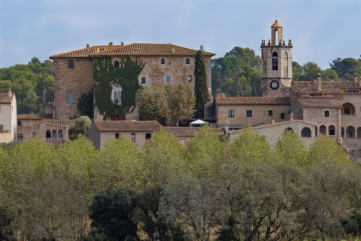 Medieval castle in Gothic style near Girona