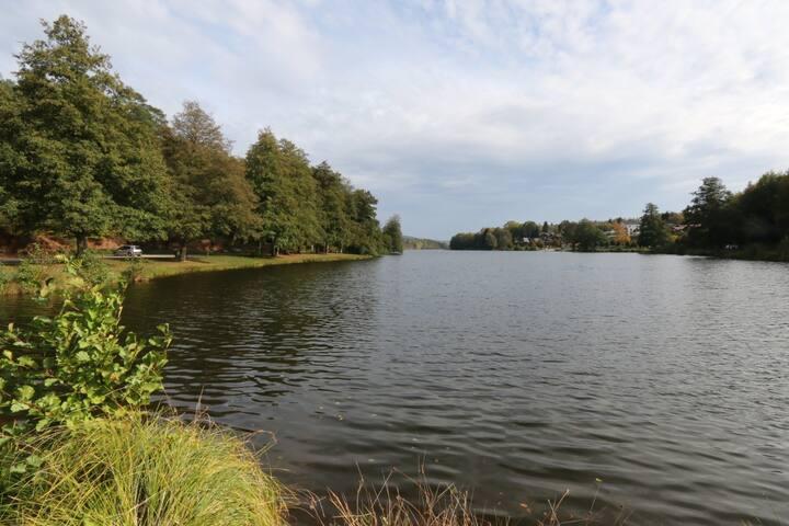 Cabane Magique au bord du lac