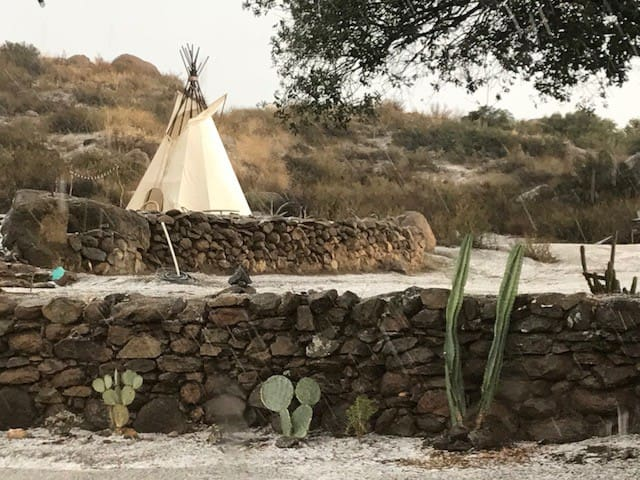 Tipi on 170 acre Ranch Eco Resort