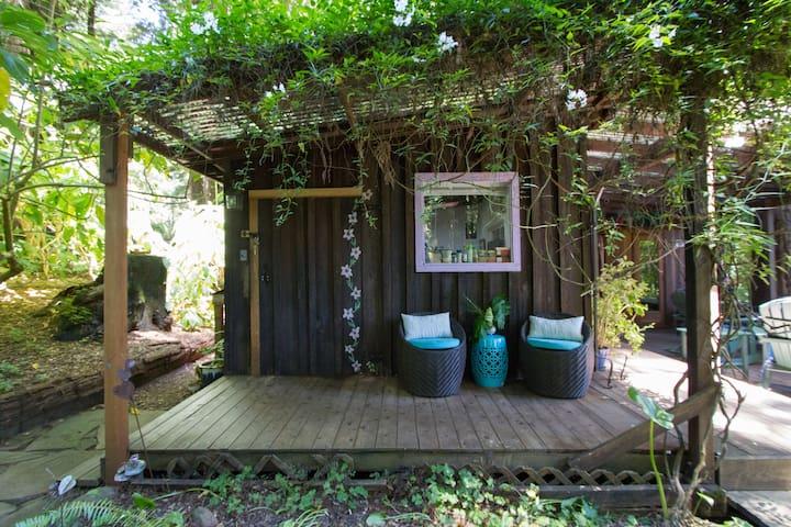 Rustic cottage in Sonoma redwoods