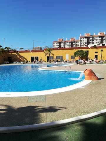 Los Cristianos, appartement plage à 2 mn, 4 pers