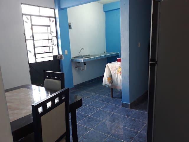 Apartamento comodo atras de Soriana y Cinemex