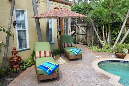 Charming poolside cottage