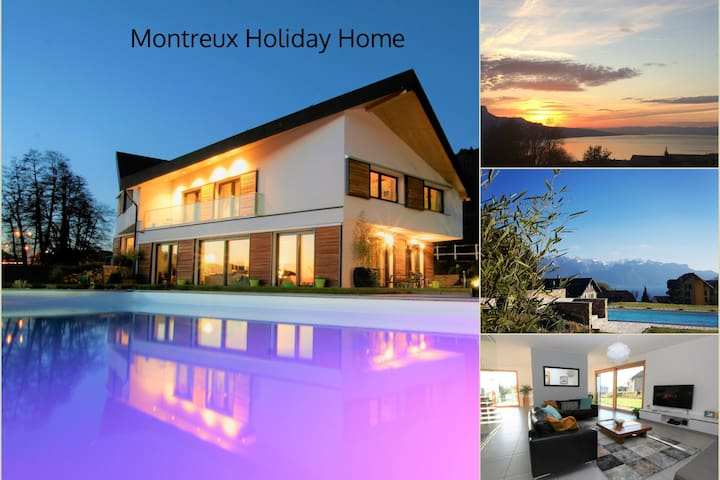 Montreux Holiday Home, modern villa with lake view