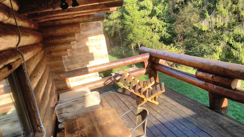 Log house for family