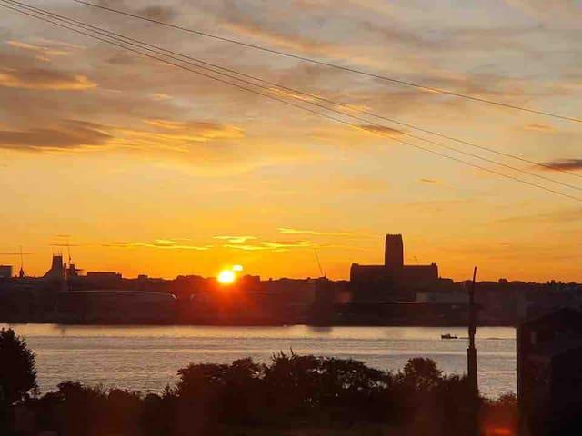 Merseyview scenic views of Liverpool  waterfront