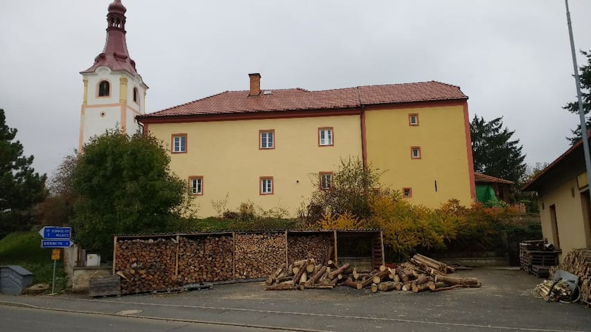 Historical priest house near Domazlice